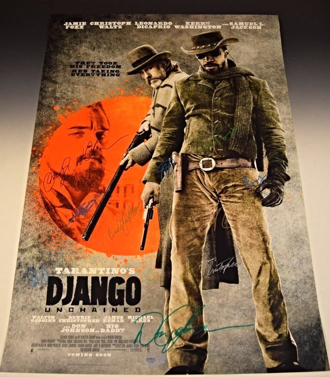 Django Cast Signed Movie Poster