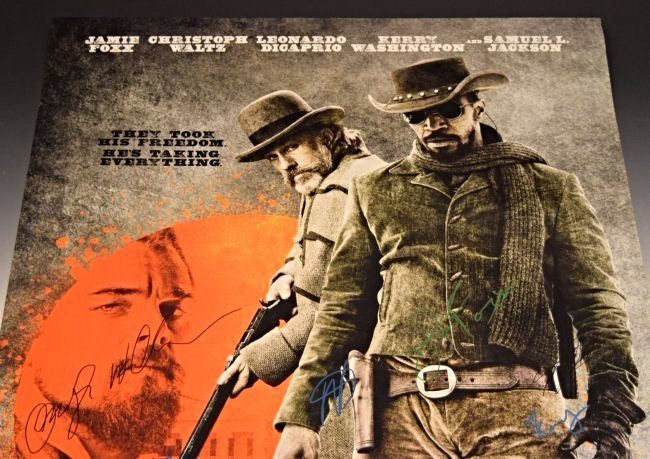 Django Cast Signed Movie Poster - 2