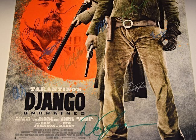 Django Cast Signed Movie Poster - 3