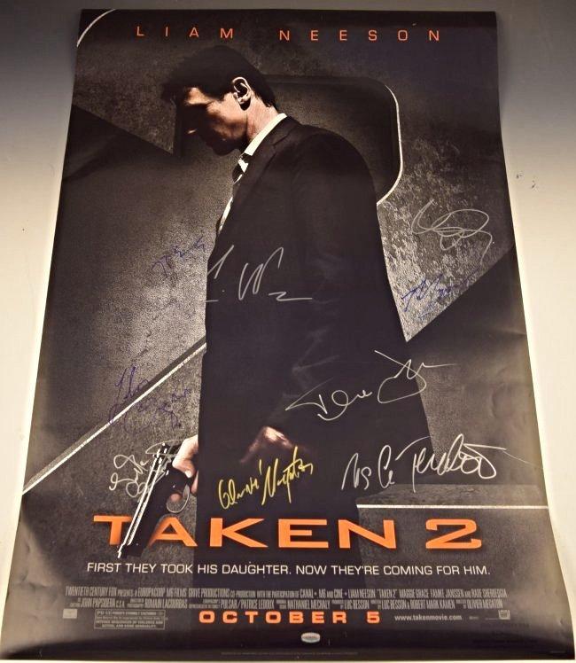 Taken 2 Cast Signed Movie Poster