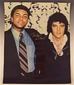 Muhammad Ali Signed Photo with Elvis Presley