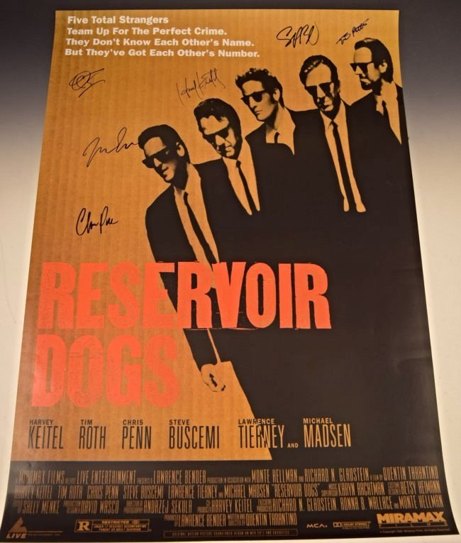 Reservoir Dogs Cast Signed Movie Poster