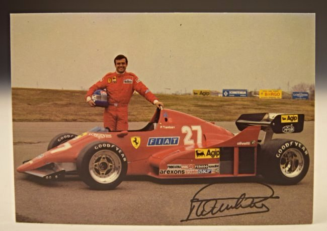 Enzo Ferrari Signed Postcard