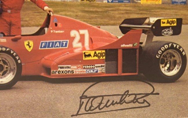 Enzo Ferrari Signed Postcard - 2