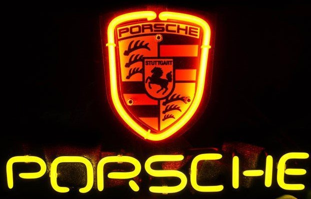 Porsche Display Light Sign