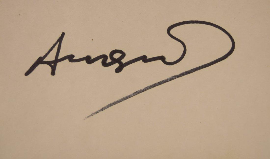 Andy Warhol Autograph