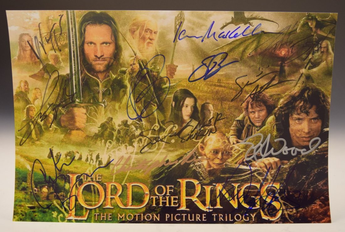 Lord of the Rings Cast Signed Movie Photo