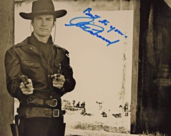 Clint Eastwood Signed Photo - 2