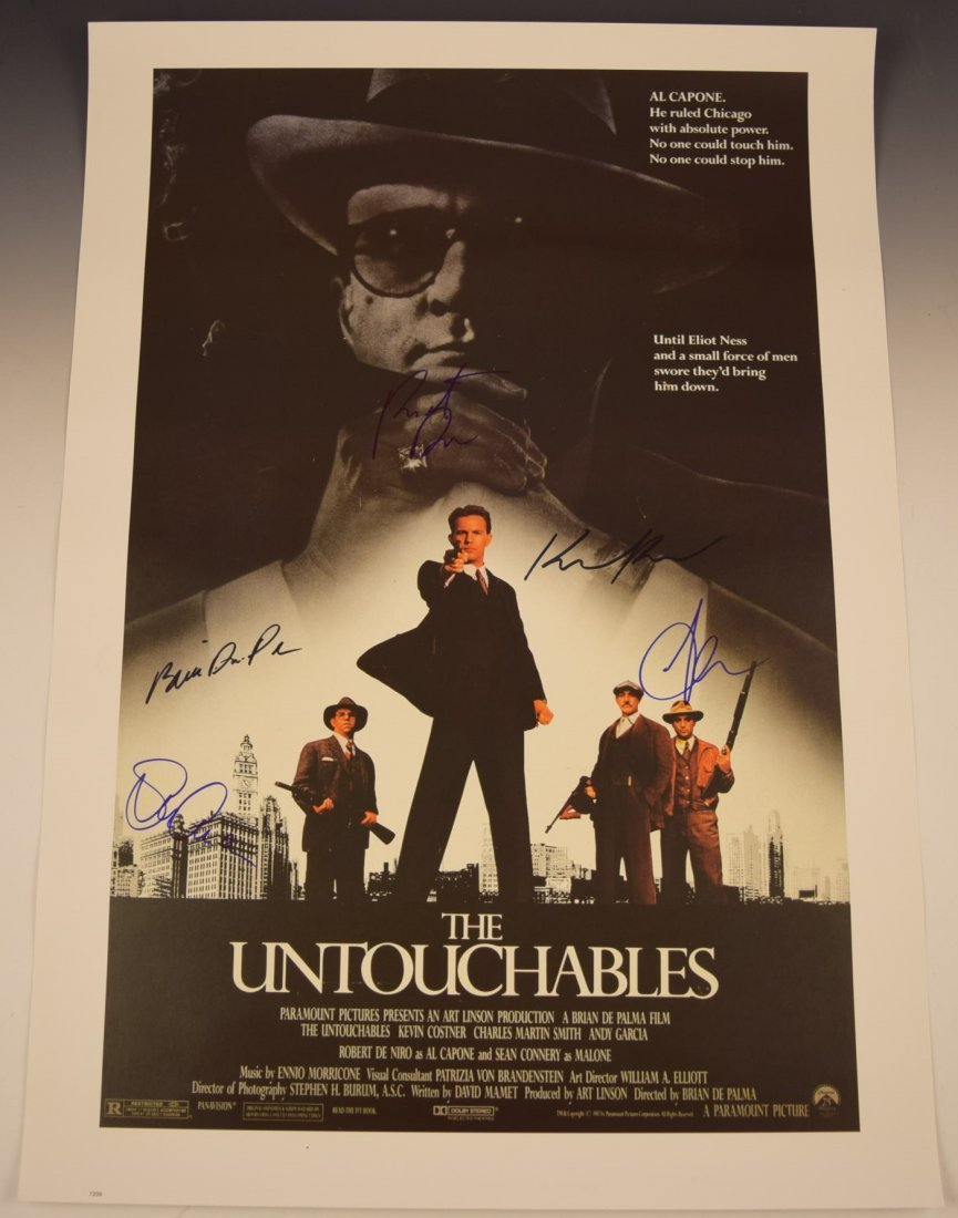 The Untouchables Cast Signed Movie Poster
