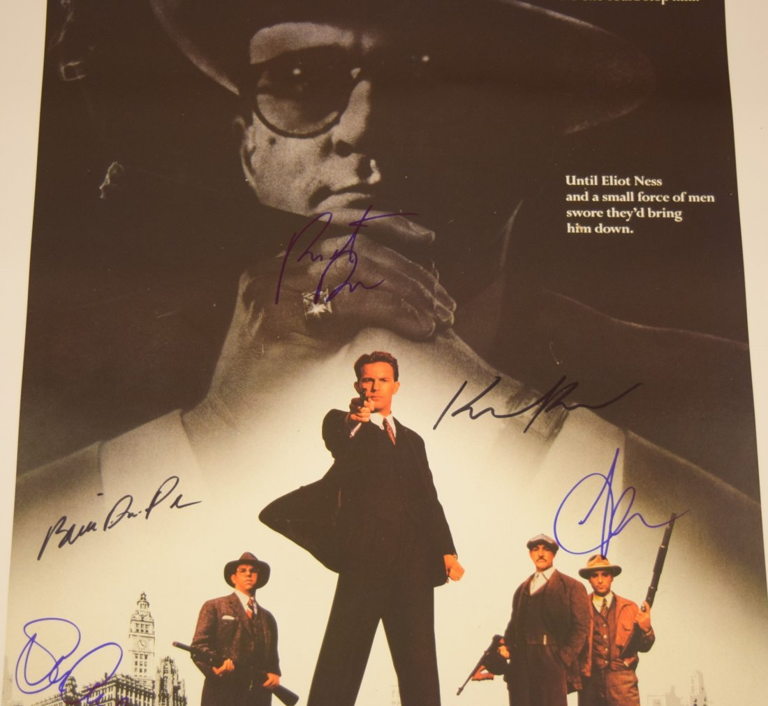 The Untouchables Cast Signed Movie Poster - 2