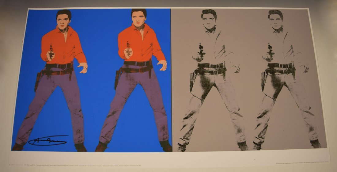 Andy Warhol Signed Elvis Poster