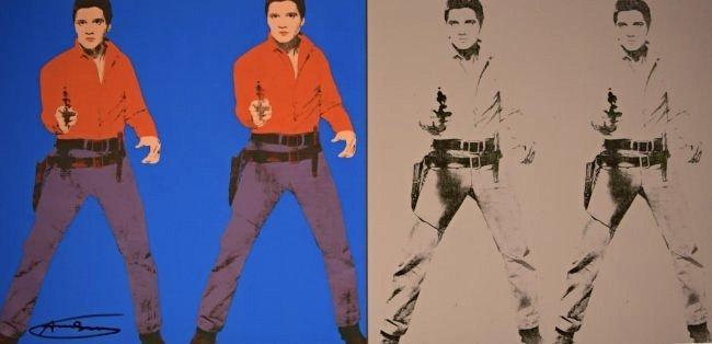 Andy Warhol Signed Elvis Poster - 2