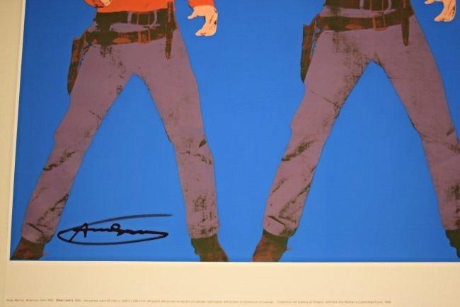 Andy Warhol Signed Elvis Poster - 3