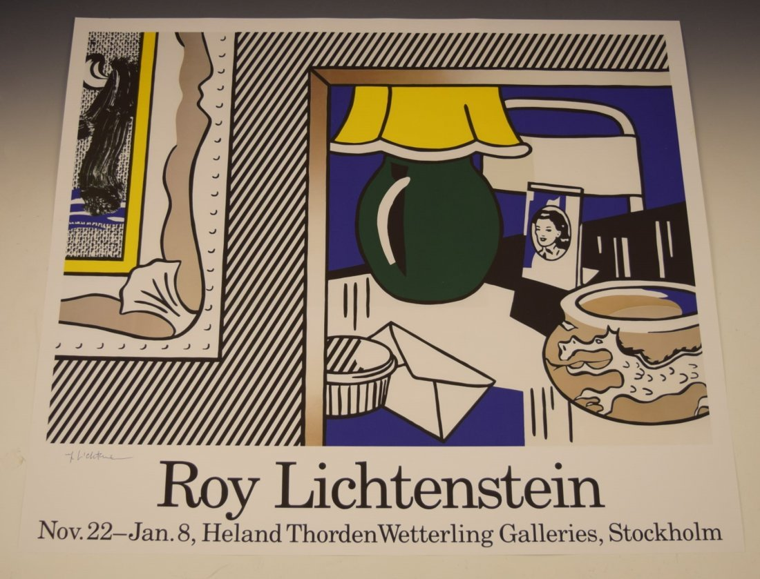 Roy Lichtenstein Signed Poster