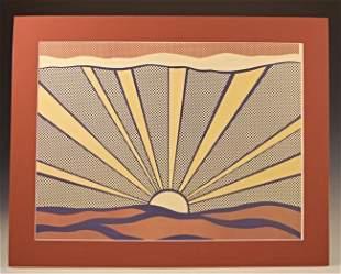 Roy Lichtenstein Sunrise, Signed