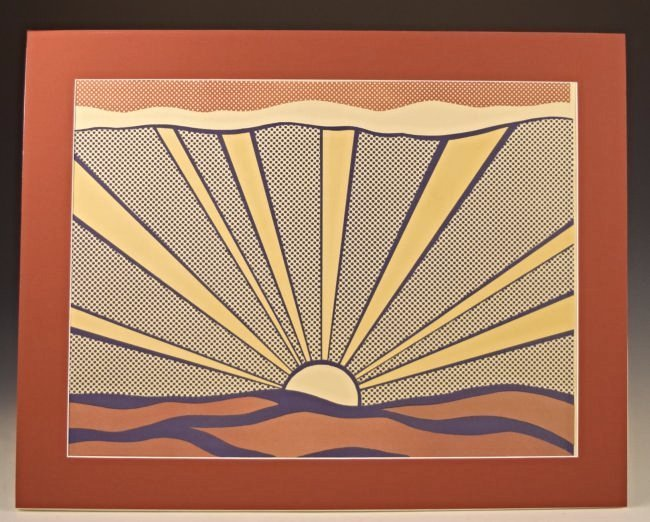 Roy Lichtenstein Sunrise, Signed