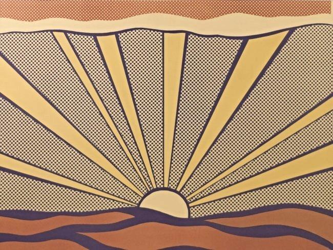 Roy Lichtenstein Sunrise, Signed - 2