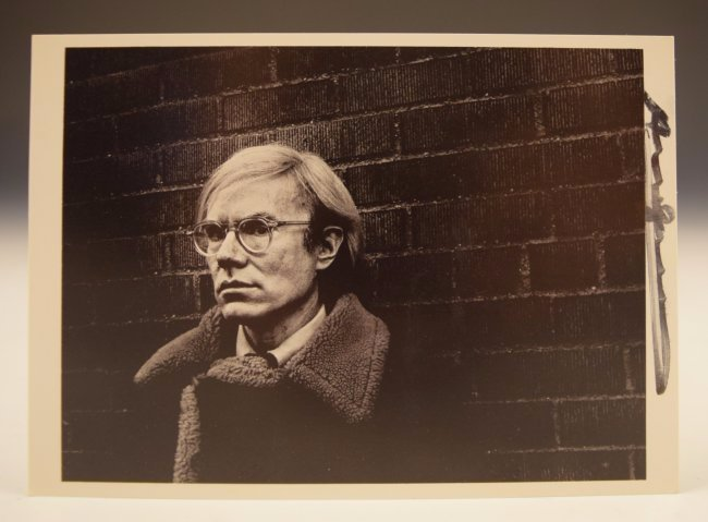 Andy Warhol Signed Card