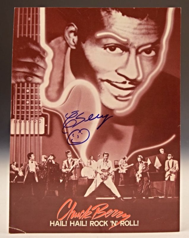 Chuck Berry Signed Page