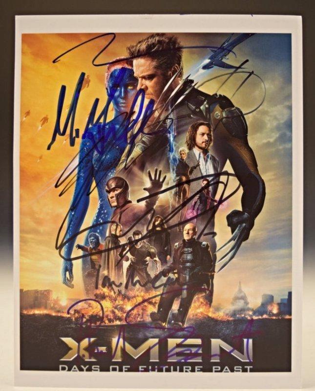 XMen Cast Signed Movie Photo