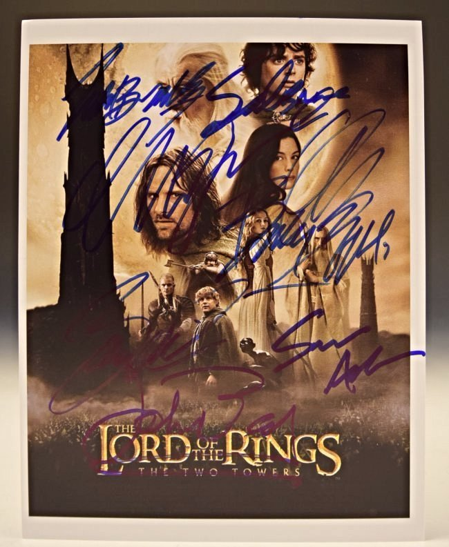 Lord of the Rings Cast Signed Photo