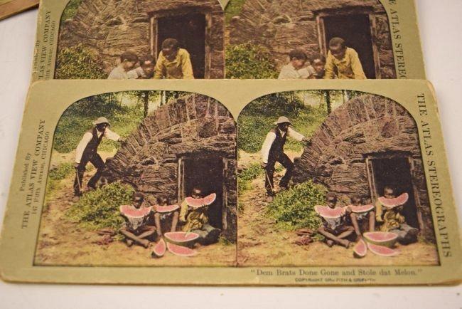 Black Americana Slavery Photograph Cards - 4
