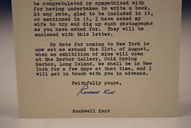 Rockwell Kent Signed Letter - 2
