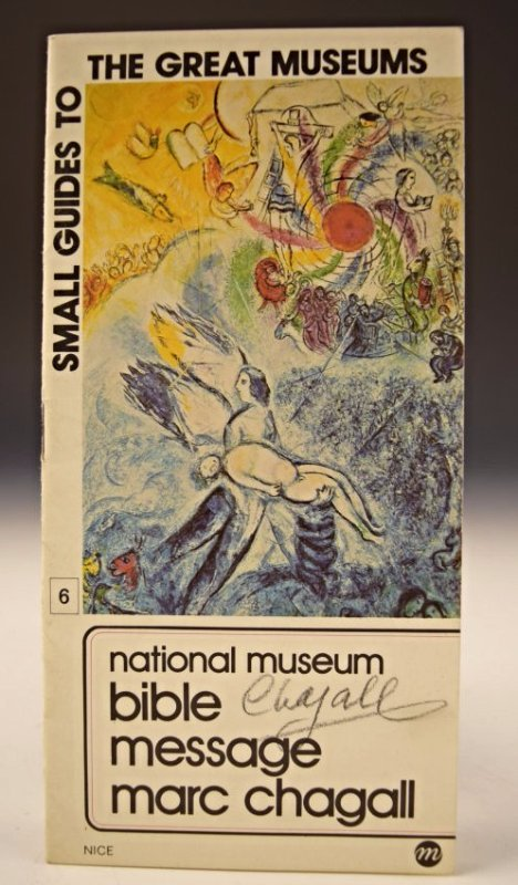 Marc Chagall Signed Museum Guide