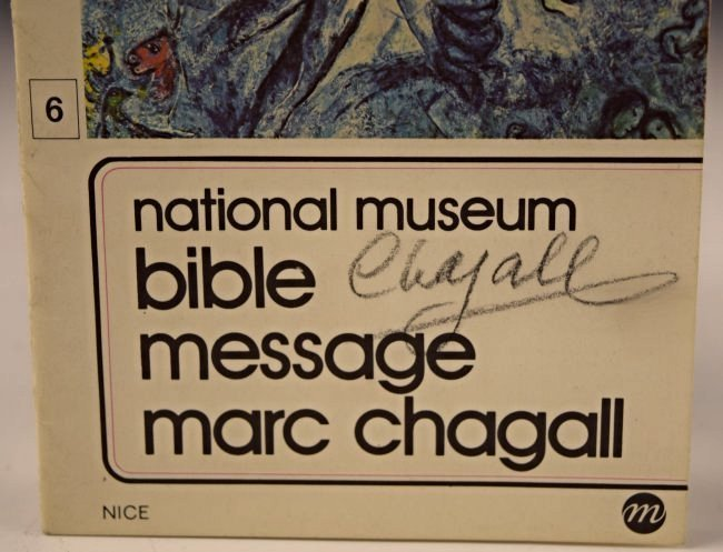 Marc Chagall Signed Museum Guide - 2