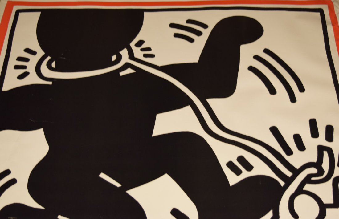 Keith Haring Free South Africa Signed Poster - 2