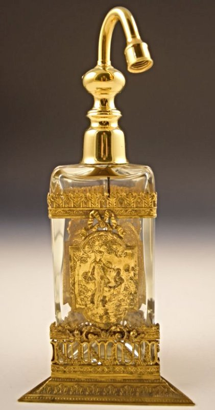 Baccarat Gold Perfume Bottle
