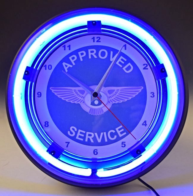 Bentley Neon Wall Clock