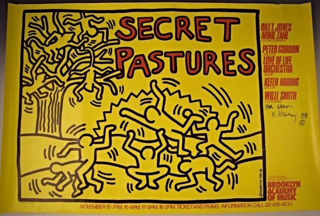 Keith Haring Signed Secret Pastures