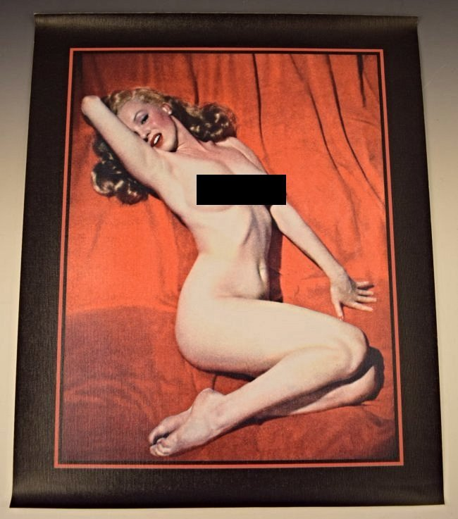 Marilyn Monroe Pin Up Canvas Poster