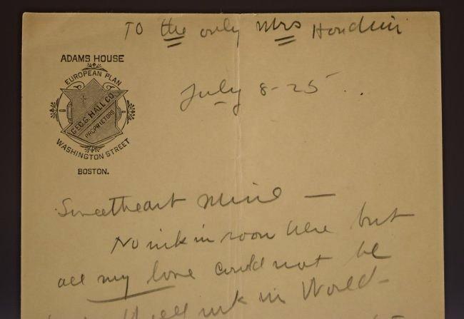 Harry Houdini Love Letter to Bess Houdini - 2