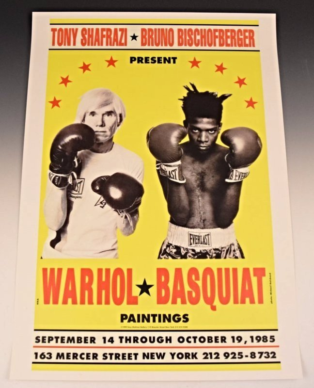 Andy Warhol, Jean Basquiat Gallery Poster