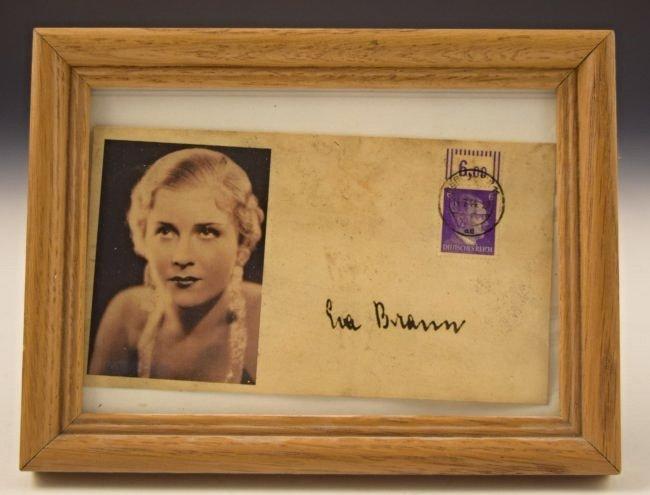 Eva Braun Signed Envelope