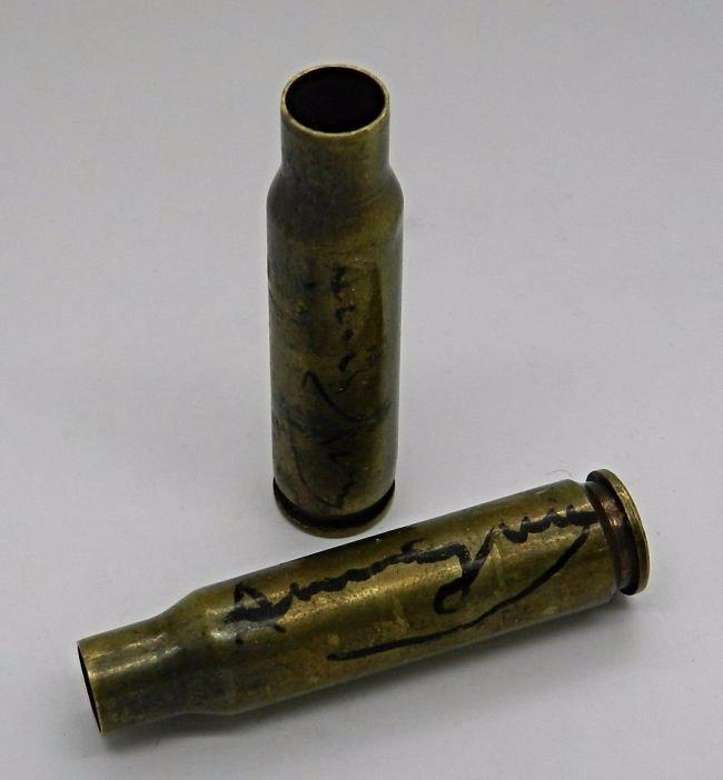 Andy Warhol Signed Gun Bullets