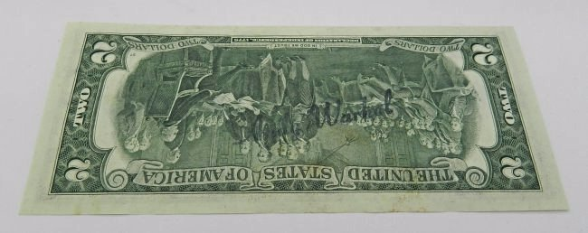 Andy Warhol Signed Two Dollar Bill - 4