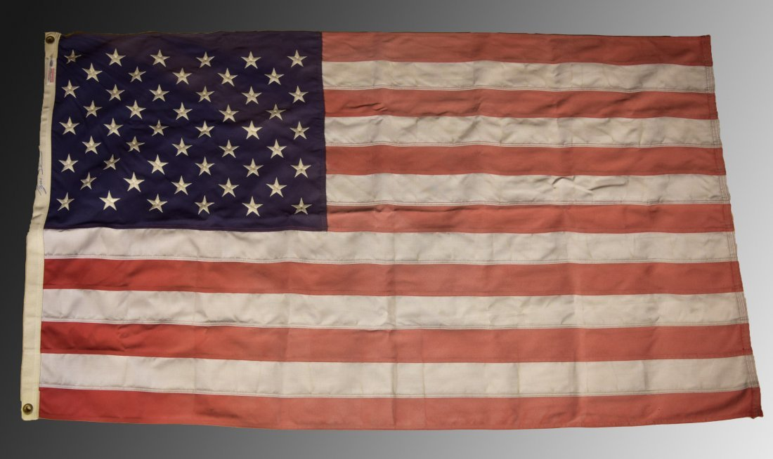 George W. Bush Signed Flag