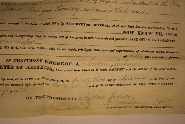 Andrew Jackson Signed Document - 2