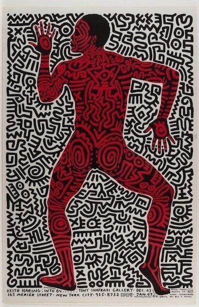 Keith Haring, Tony Shafrazi Exhibition Poster