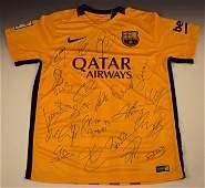 Barcelona Team Signed Jersey