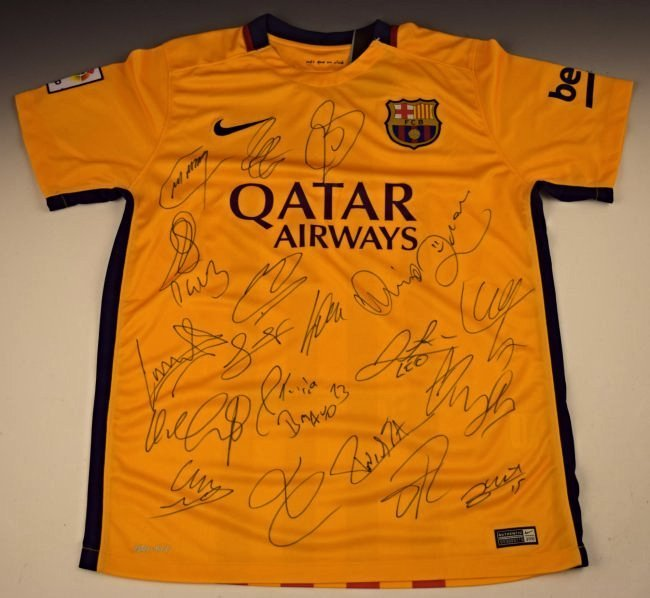 Barcelona Team Signed Jersey