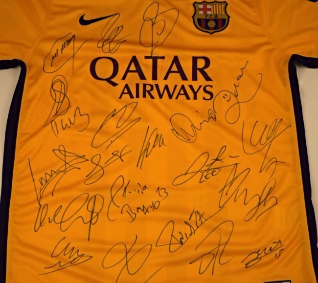 Barcelona Team Signed Jersey - 2