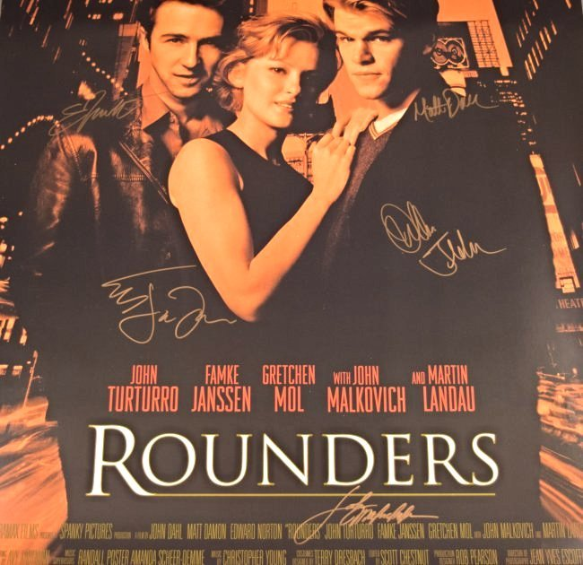 Rounders Cast Signed Movie Poster - 2