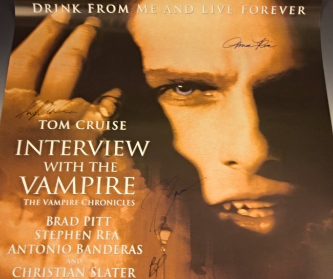 Interview With A Vampire Cast Signed Movie Poster - 2