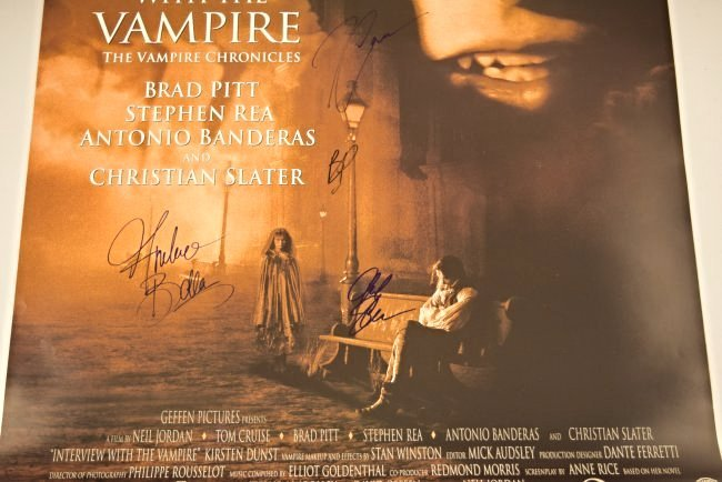 Interview With A Vampire Cast Signed Movie Poster - 3