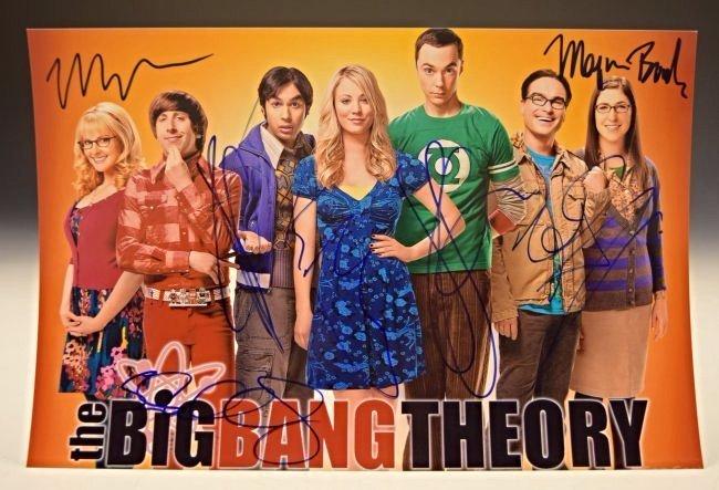 Big Bang Theory Cast Signed Photo