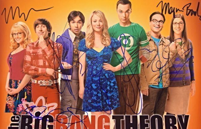 Big Bang Theory Cast Signed Photo - 2